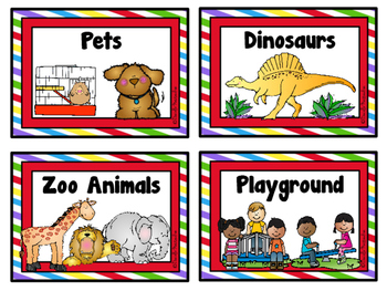 Writing Topic Cards - SET 1