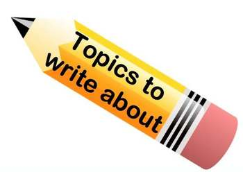Topics to write about