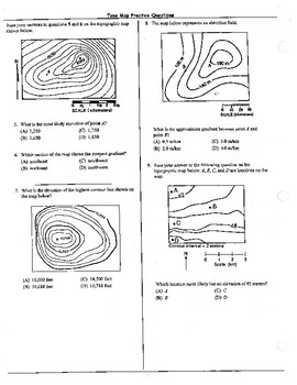 Topo Map Practice Questions