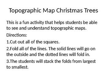 Topographic Christmas trees