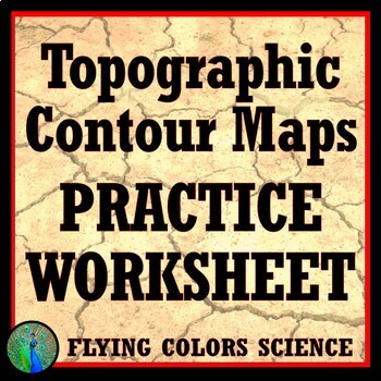 Topographic Contour Map Practice Worksheet Homework Tpt