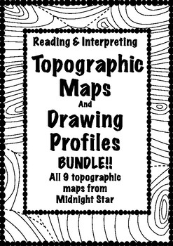 Topographic Map Bundle!  9 Maps with profiles- MidnightStar