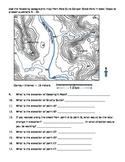 Topographic Map Worksheet