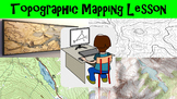 Topographic Mapping Lesson with Worksheet, Power Point, and Map Reading Activity