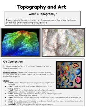 Topographic Maps - A 3D Design Art Project