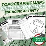 Topographic Maps Activity, Wheel of Knowledge Interactive