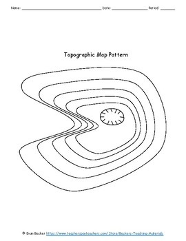 Topographic Maps Activity and Worksheet Key