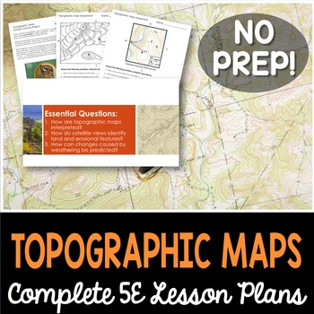 topographic map lesson plan Topographic Maps Complete 5e Lesson Plan Distance Learning By