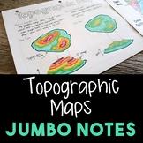 Topographic Maps JUMBO Notes
