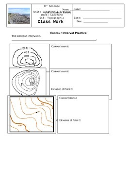 Topographic Maps Lesson Stations