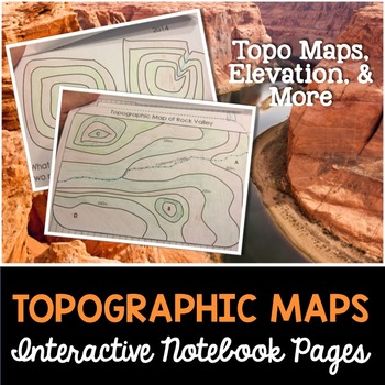 Topographic Maps Interactive Notebook Pages
