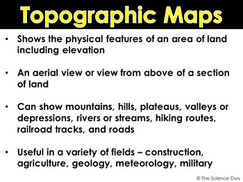 topographic maps powerpoint and notes by the science duo tpt