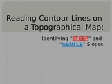 Topographic Maps-Reading Contour Lines to Determine Slope of a Mountain