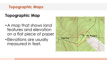 Topographic Maps - Supplemental Lesson - No Lab
