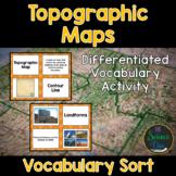 Topographic Maps Vocabulary Sort