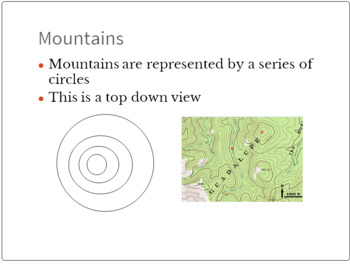 Topography Lesson -- PowerPoint, Notes, Contour Lines Lab