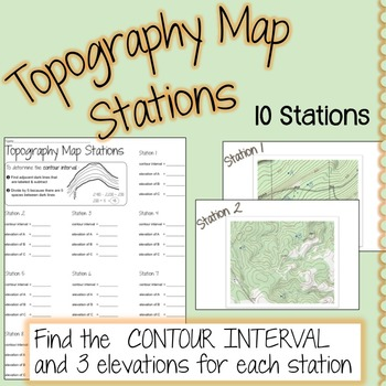 topography map stations topo map contour map by lisa tarman. Black Bedroom Furniture Sets. Home Design Ideas