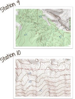 Topography Map Stations ( topo map / contour map )
