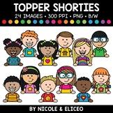 Topper Kid Shorties Clipart