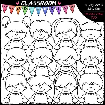 Topper Kids - Clip Art & B&W Set