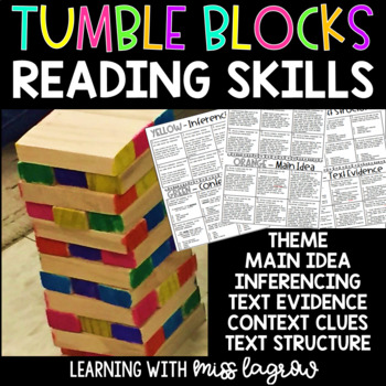 Tumble Blocks Reading Skills Review Game