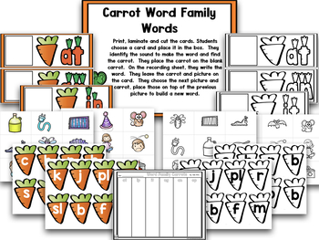Tops And Bottoms!  Carrot Math And Literacy Centers!