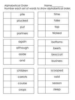 Tops & Bottoms---Reading Street---Supplemental Packet