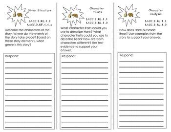 Tops & Bottoms Trifold/ Journeys HMH 3rd Grade/ Unit 3 Lesson 13