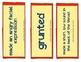 Tops & Bottoms Vocabulary Cards, Unit 3, Lesson 12, Journe
