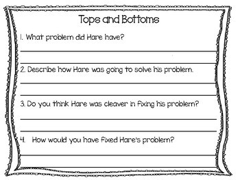 Tops and Bottoms  48 pgs of Common Core Activities