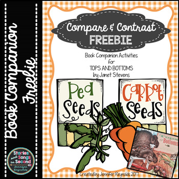 Tops and Bottoms Book Companion--Compare and Contrast FREEBIE