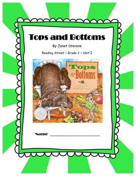 Tops and Bottoms CCSS Comprehension Booklet Reading Street Grade 3 Unit 2