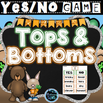 Tops and Bottoms Character Traits Game   Tops and Bottoms Activity
