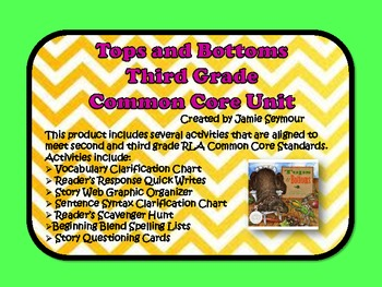 Tops and Bottoms Common Core Reading Unit