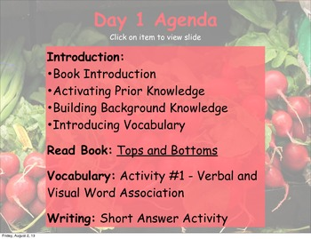 Tops and Bottoms Comprehensive Literacy Unit (Keynote)
