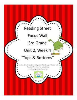 Tops and Bottoms Focus Wall Posters Grade 3, Reading Street 2013 CC