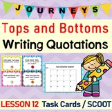 Tops and Bottoms (Journeys L.12, 3rd Grade) WRITING QUOTATIONS Task Cards/Scoot