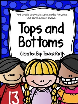 Tops and Bottoms Journey's Supplemental Activities- Third Grade Unit 3 Lesson 12