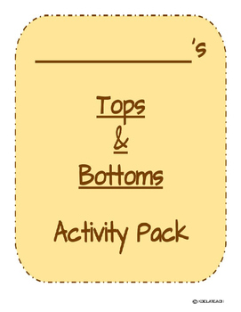 Tops and Bottoms Learning Pack