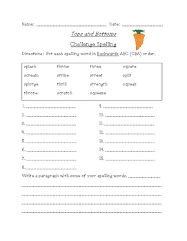 Tops and Bottoms Reading and Spelling Bundle (Scott Foresman Reading Street)