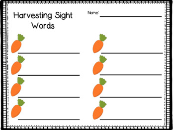 Tops and Bottoms Sight word match