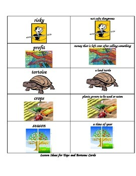Tops and Bottoms Spelling & Vocabulary List & Activities; Farm or Plants unit