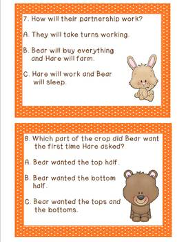 Tops and Bottoms adapted by Janet Stevens: A Comprehension Scoot