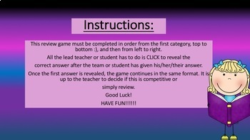 Tops and Bottoms by: Janet Stevens INTERACTIVE REVIEW GAME  Grade 3