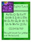 Topsy Turvy Font {Creative Clips Fonts}