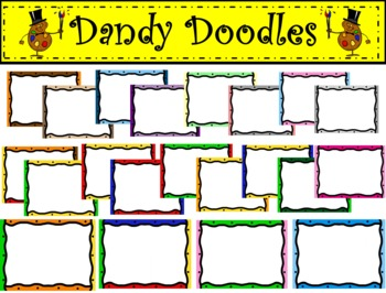 Topsy Turvy Frames Clip Art by Dandy Doodles