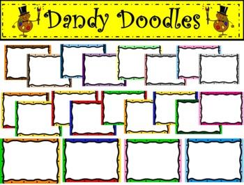 Topsy Turvy Frames Clip Art by Dandy Doodles