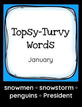 Topsy-Turvy Words: January