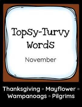 Topsy-Turvy Words: November