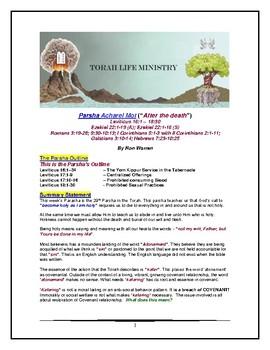 Torah Portion - Leviticus - Acharei Mot - Sixth of Ten